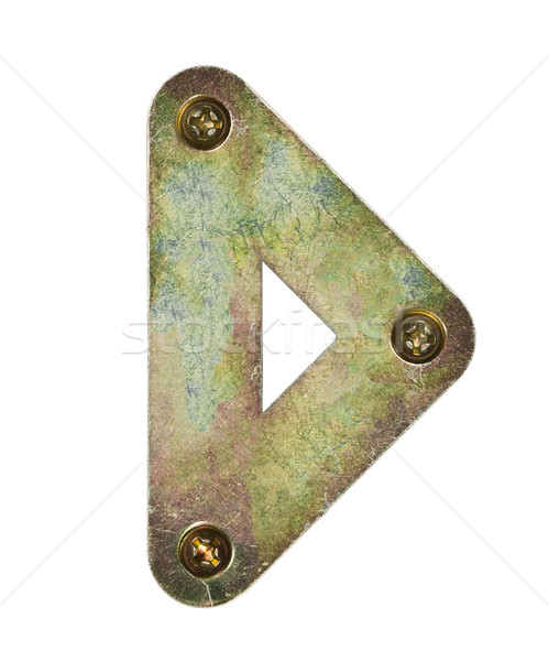 Fém levél öreg ábécé d betű textúra Stock fotó © donatas1205