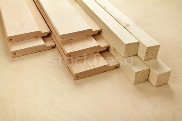 Fa deszkák fa deszka építkezés háttér ipari Stock fotó © donatas1205
