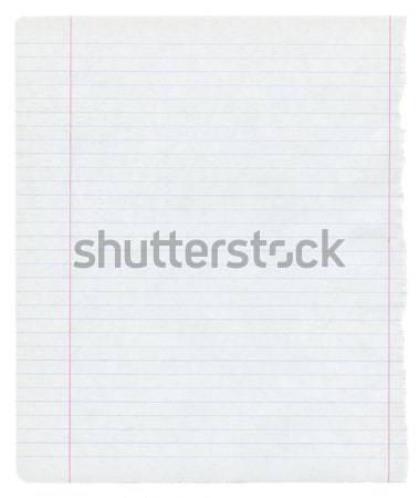 Papierstructuur gedetailleerd geïsoleerd kantoor textuur school Stockfoto © donatas1205