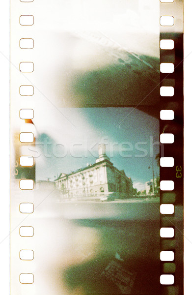 Film grunge filmstrip licht stad abstract Stockfoto © donatas1205