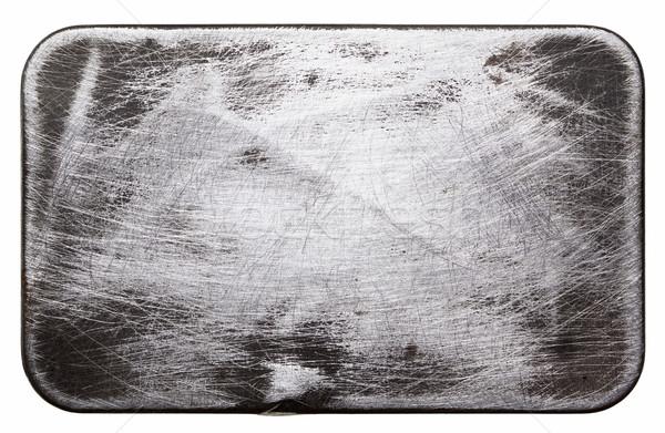 Stock fotó: Fém · tányér · textúra · kopott · terv · ipar