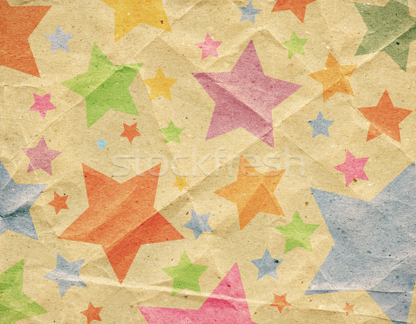 Retro kâğıt kağıt dokusu doku arka plan star Stok fotoğraf © donatas1205