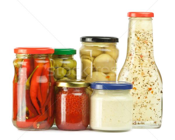 Encurtidos aislado blanco alimentos vidrio comer Foto stock © donatas1205