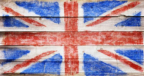 Flag on wood Stock photo © donatas1205