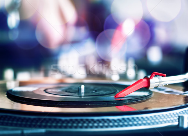 Playing vinyl Stock photo © donatas1205