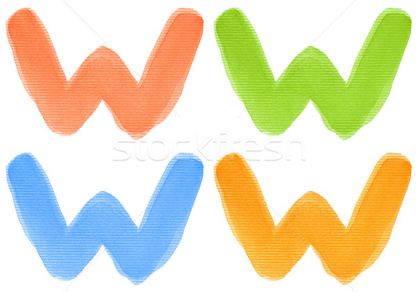水彩画 手紙 アルファベット 異なる 色 孤立した ストックフォト © donatas1205