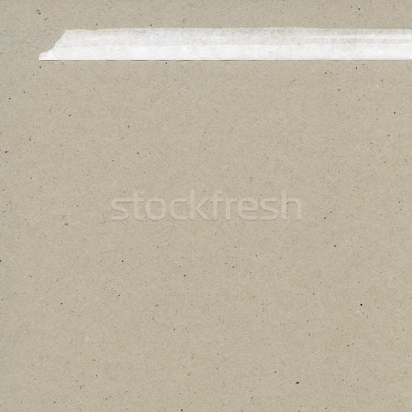 Papír textúra végtelenített karton fehér szakadt papír Stock fotó © donatas1205