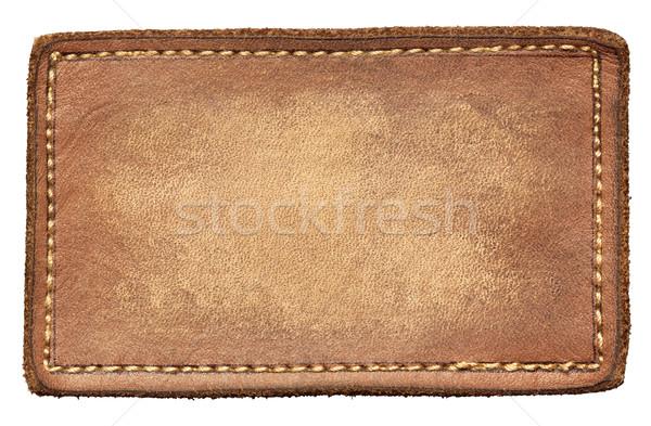 Kot etiket deri yalıtılmış moda arka plan Stok fotoğraf © donatas1205