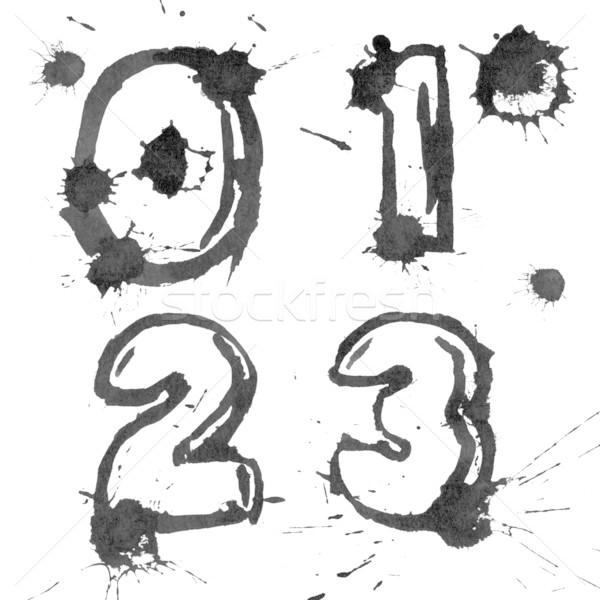 Stock photo: ink alphabet