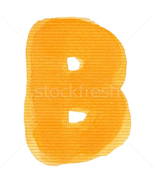 Foto stock: Acuarela · carta · alfabeto · aislado · papel