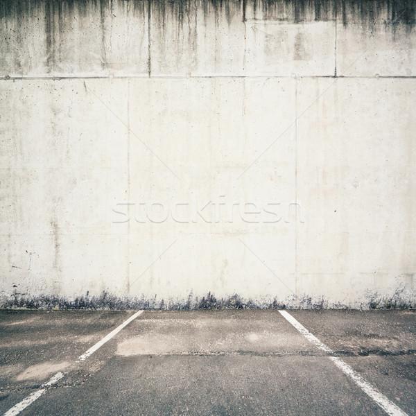Fal beton parkolóhely textúra ajtó háttér Stock fotó © donatas1205