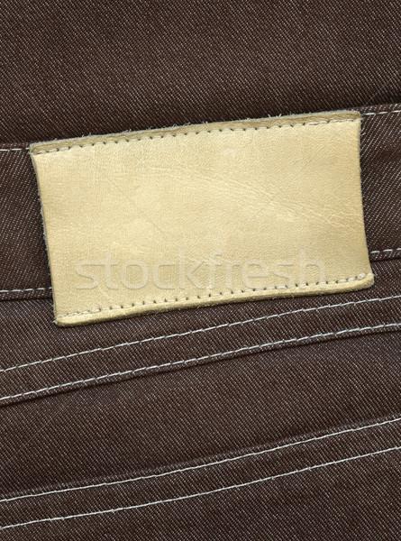 Leather label Stock photo © donatas1205