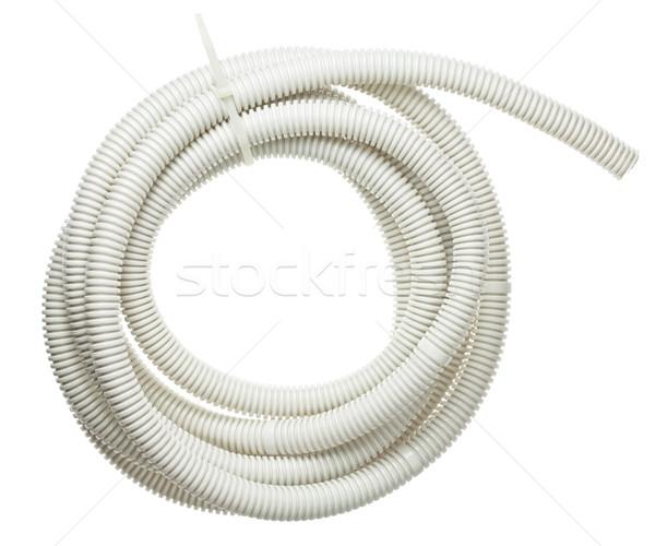 Stockfoto: Pijp · plastic · buis · kabel · bescherming · elektrische