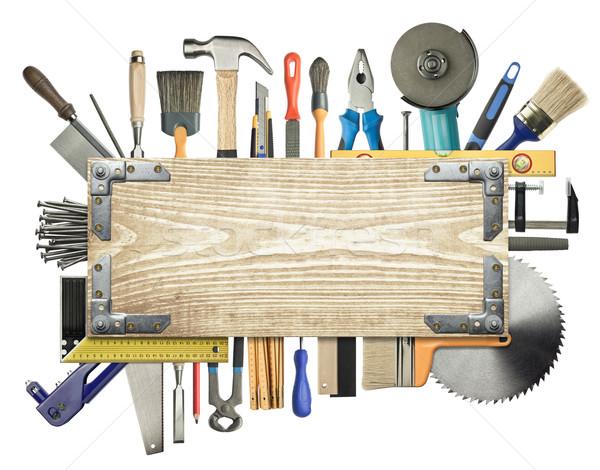 hintergrund bau werkzeuge holz arbeit bleistift stock foto donatas1205 1900645. Black Bedroom Furniture Sets. Home Design Ideas