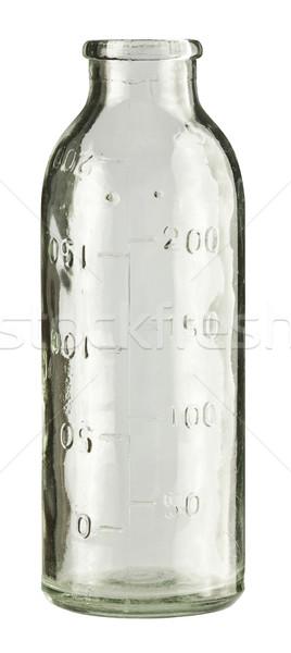 Fles lege kleurloos vintage melk geïsoleerd Stockfoto © donatas1205