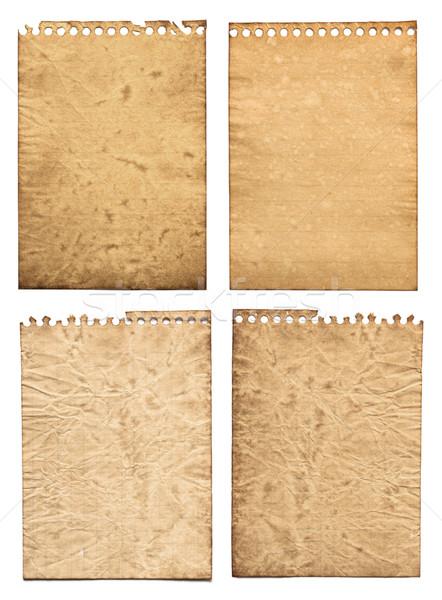 старой бумаги текстуры набор фон искусства фото Сток-фото © donatas1205