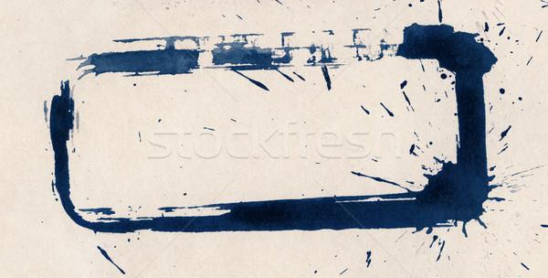 インク テクスチャ 抽象的な 描いた グランジ 紙 ストックフォト © donatas1205