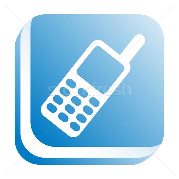 ícone web telefone internet projeto assinar teia Foto stock © donatas1205