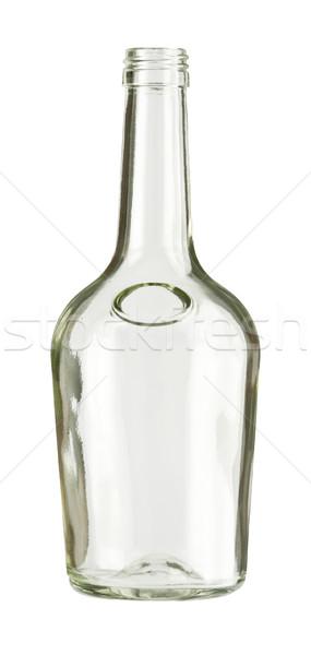 бутылку пусто бесцветный стекла изолированный Vintage Сток-фото © donatas1205