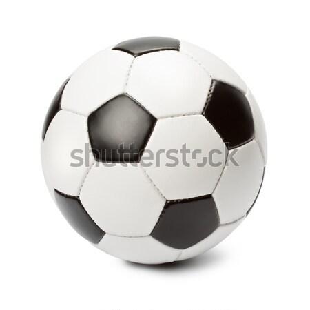 футбольным мячом белый Футбол фон мяча осуществлять Сток-фото © donatas1205