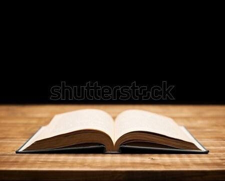 Libro tavola poco profondo focus carta texture Foto d'archivio © donatas1205