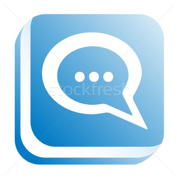 ウェブのアイコン インターネット デザイン ウェブ 青 話 ストックフォト © donatas1205