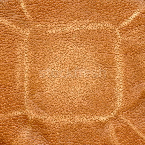 ストックフォト: ブラウン · 革 · ファッション · 背景 · ファブリック