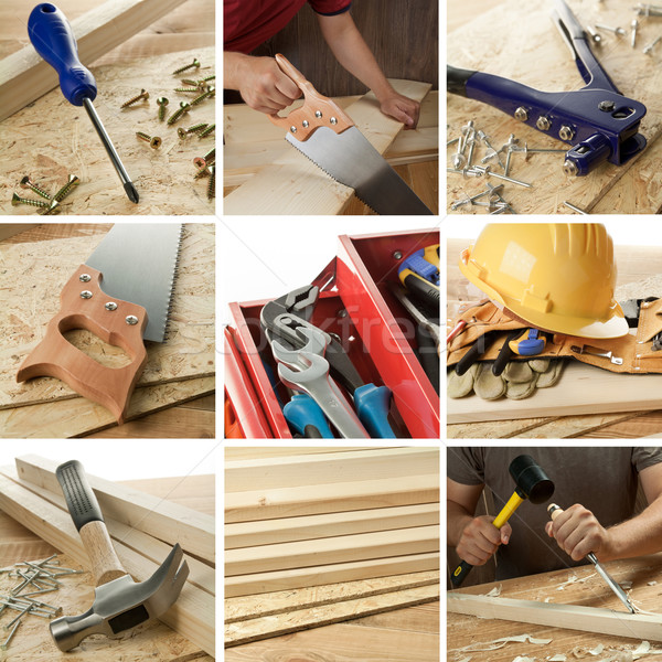 Menuiserie collage menuiserie outils objets main Photo stock © donatas1205