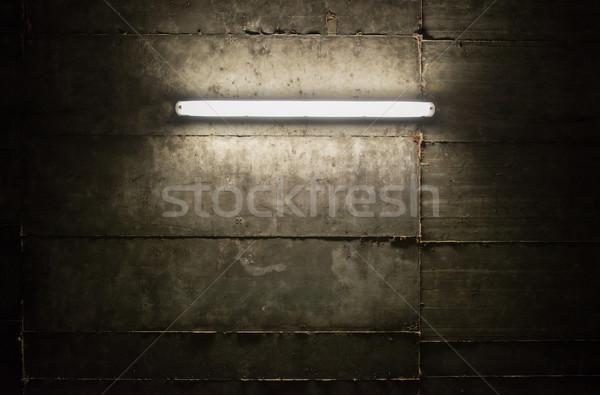 Stok fotoğraf: Floresan · ışık · tüp · duvar · doku · soyut