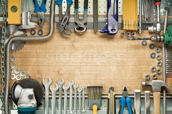 Home improvement timmerwerk bouw tools hout werk Stockfoto © donatas1205