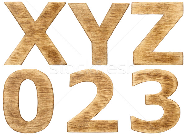 Alfabet litery numery projektu wydruku Zdjęcia stock © donatas1205