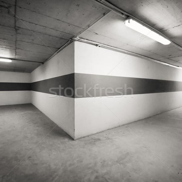 Parede vazio estacionamento edifício luz fundo Foto stock © donatas1205