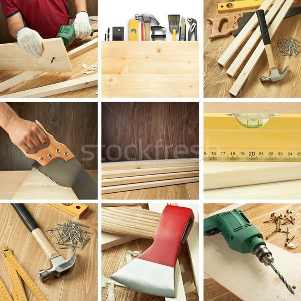 Woodwork collage Stock photo © donatas1205