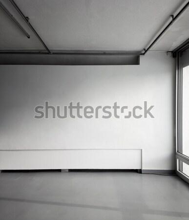 空っぽ 白 壁 建物 光 背景 ストックフォト © donatas1205
