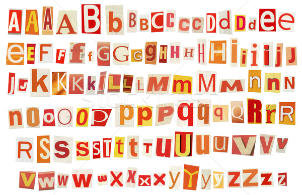 Newspaper alphabet Stock photo © donatas1205