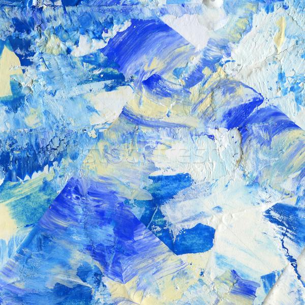 アクリル 抽象的な 手 描いた テクスチャ 塗料 ストックフォト © donatas1205