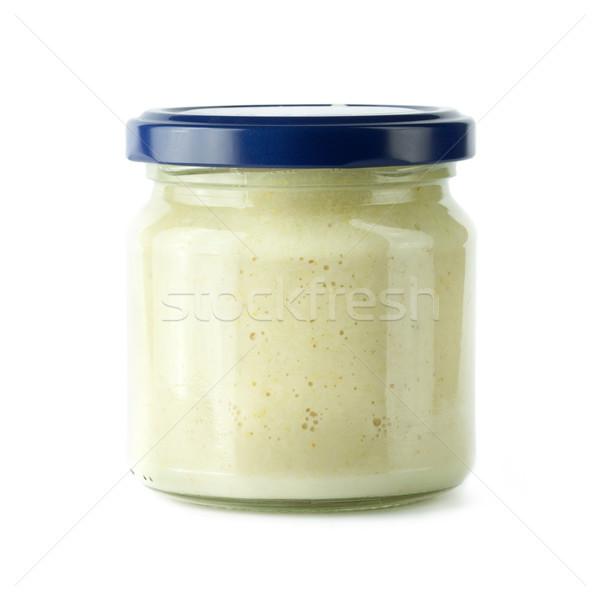 Raifort verre jar alimentaire manger blanche Photo stock © donatas1205