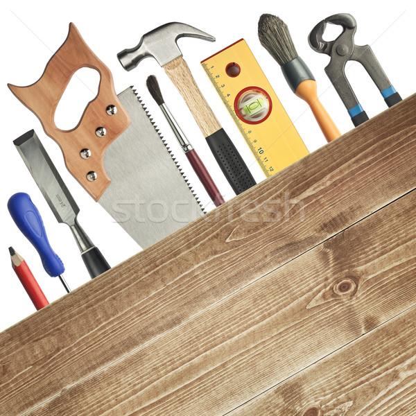 Carpenteria strumenti legno lavoro matita Foto d'archivio © donatas1205