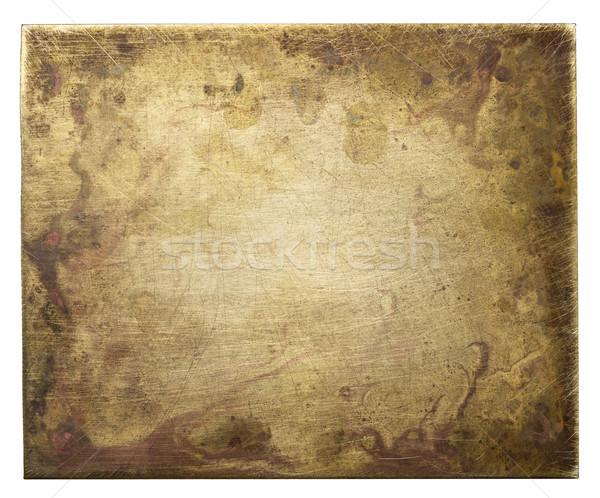 金属 プレート 真鍮 テクスチャ 古い デザイン ストックフォト © donatas1205