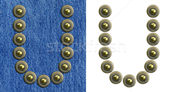 Jeans alphabet Stock photo © donatas1205