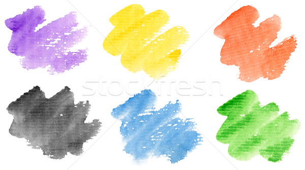Watercolor strokes Stock photo © donatas1205