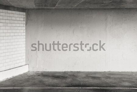 Otopark boş can kullanılmış duvar arka plan Stok fotoğraf © donatas1205