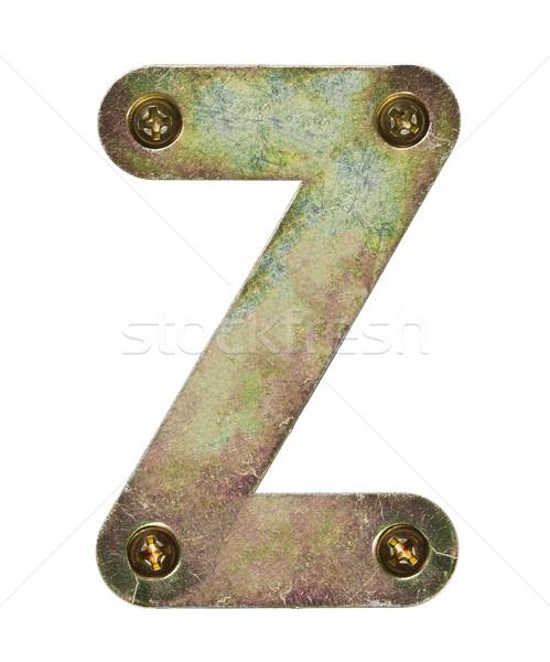 Metal mektup eski alfabe doku Stok fotoğraf © donatas1205