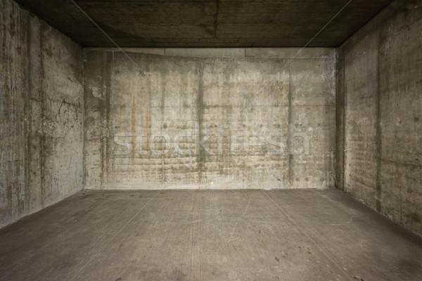 üres szoba beton falak padló fény terv Stock fotó © donatas1205