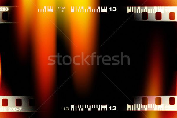 ışık sızıntı renk filmstrip örnek doku Stok fotoğraf © donatas1205