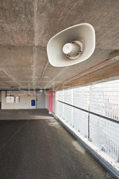 Parking Język muzyki tekstury miejskich piętrze Zdjęcia stock © donatas1205