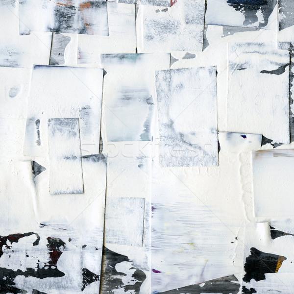 Grunge boyalı kâğıt grunge texture doku duvar Stok fotoğraf © donatas1205