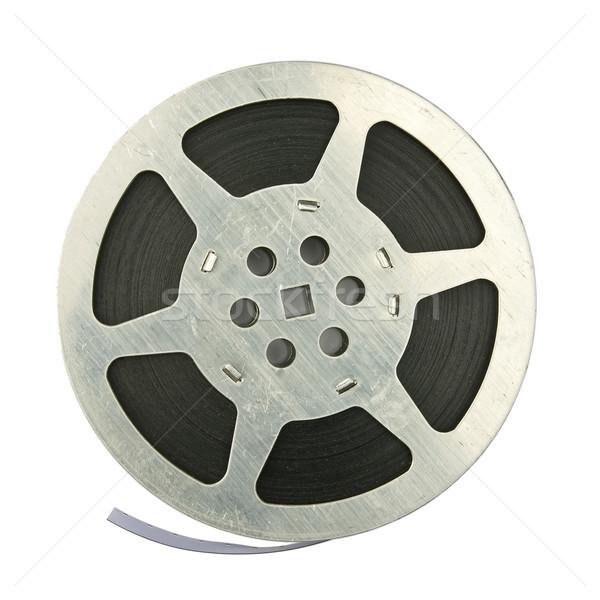 Bobina vintage cinema isolato bianco film Foto d'archivio © donatas1205