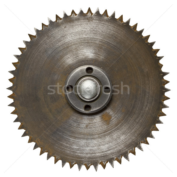 Zag oude roestige mes hout Stockfoto © donatas1205