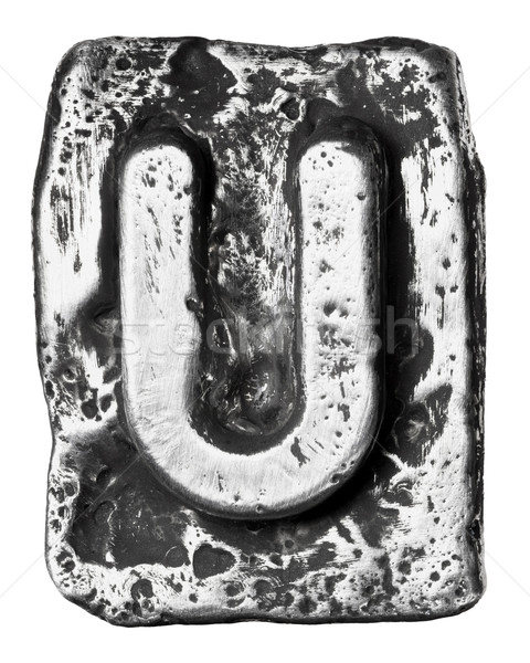 металл письме сплав алфавит знак пластина Сток-фото © donatas1205